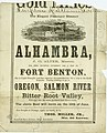 Printed advertisement for the steamboat Alhambra, departing from St. Louis to Fort Benton, ca. 1860-1863.jpg
