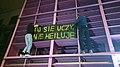 Protest Studenckiego Komitetu Antyfaszystowskiego pod Biblioteką Uniwersytetu Warszawskiego.jpg