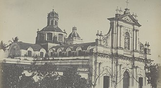 Immaculate Conception Cathedral, Pondicherry - Image: Puducherry Cathedral 1860