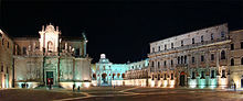 Night view of Piazza Duomo in Lecce