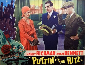 Harry Richman - Lobby card for Puttin' On the Ritz (1930)