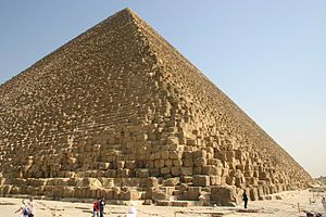 Seven Wonders of the Ancient World - The Great Pyramid of Giza, the only one of the Seven Wonders of the Ancient World still standing