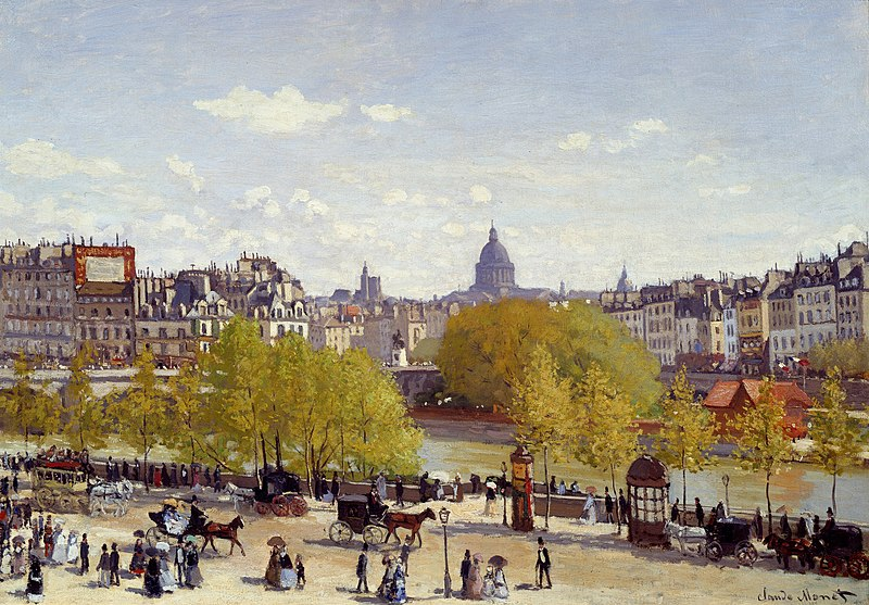 File:Quai du Louvre 1867, by Claude Monet.jpg
