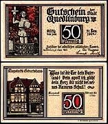 Quedlinburg 50 Pfennig RS Klopstocks Geburtshaus.jpg