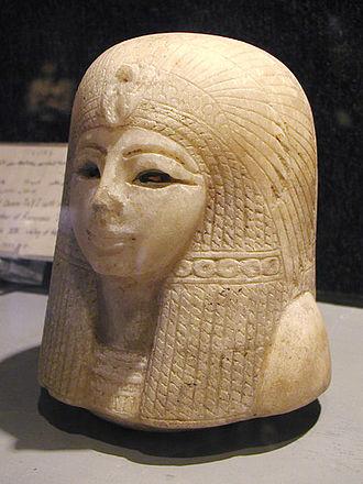 Tuya (queen) - Canopic jar lid of Queen Tuya from the Luxor Museum