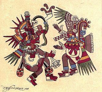POESÍA MÍSTICA Y RELIGIOSA I (Hay un índice de autores en la primera página) - Página 33 333px-Quetzalcoatl_and_Tezcatlipoca