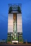 RLV-TD HEX01 at First Launch Pad of Satish Dhawan Space Centre, Sriharikota (SDSC SHAR) before launch 02.jpg