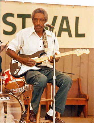 R. L. Burnside - Burnside performing in Knoxville, Tennessee, at the 1982 World's Fair