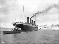 Rms Titanic Leaving Belfast For Her Sea Trials On