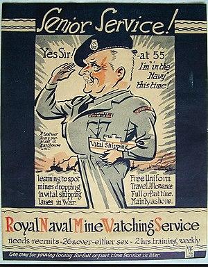 Royal Naval Minewatching Service - Image: RNMWS Recruting poster 1 circa 1953