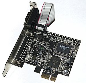 Serial port - A PCI Express ×1 card with one serial port