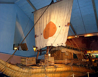 Thor Heyerdahl - The Ra II in the Kon-Tiki Museum in Oslo, Norway