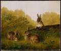 Rabbits on a Log - Arthur Fitzwilliam Tait.png