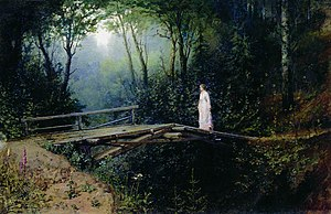 Rafail Levitsky - The Bridge in the Woods. by Rafail Sergeevich Levitsky.(1885-1886) The Stavropol Regional Museum of Fine Arts, Stavropol, Russia