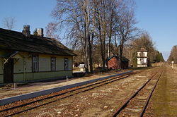 Raguvele train station 1 Lithuania.JPG