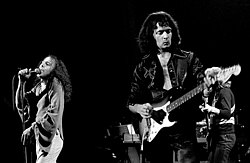 Ronnie James Dio ja Ritchie Blackmore 1977.