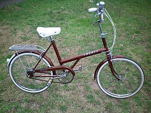 Raleigh Twenty - 1975, non-folding, three-speed Raleigh Twenty
