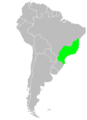 Range map of the pin-tailed manakin.png