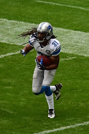 Rashean Mathis - Mathis with the Lions in 2014.