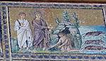 Ravenna, sant'apollinare nuovo, int., storie cristologiche, epoca di teodorico 12.jpg