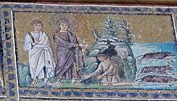 Ravenna, sant'apollinare nuovo, int., storie cristologiche, epoca di teodorico 12