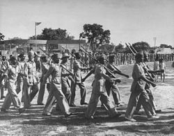 Razakar units being trained from Muslim volunteers.jpg