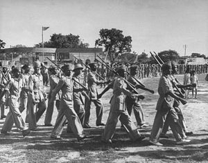 Razakars (Hyderabad) - Razakar units being trained from Muslim volunteers
