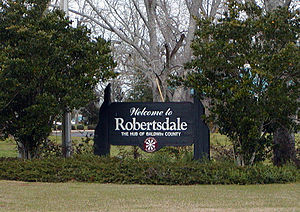Robertsdale, Alabama - Robertsdale welcome sign