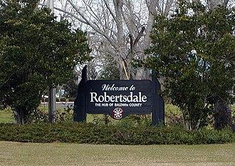 Robertsdale, Alabama - Robertsdale welcome sign