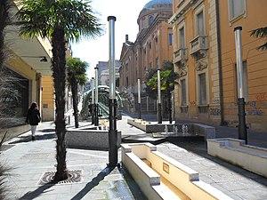 Reggio Calabria-tapis roulant di via Giudecca