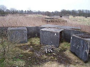 12th Anti-Aircraft Division (United Kingdom) - The remains of Drumcross HAA gunsite, built near Glasgow in 1941.