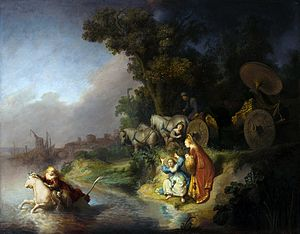 "The Abduction of Europa, 1632. Oil on panel. The work is considered to be ""...a shining example of the 'golden age' of baroque painting."""