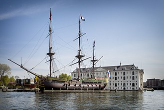 Amsterdam (VOC ship) - Ship replica of the Amsterdam