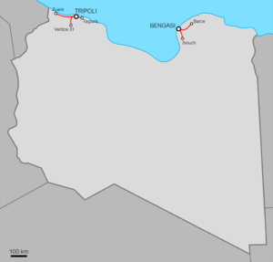 Italian Libya Railways - The five railways in Italian Libya.