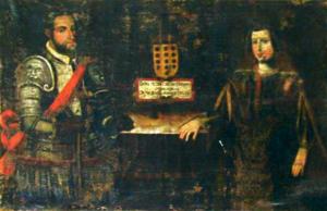 Pedro Fernández de Castro - Pedro de Castro and Isabel Ponce de León, in a 17th-century Portuguese painting series depicting the ancestors of the Portuguese branch of the Castro family (Ficalho Palace, Serpa, Portugal)