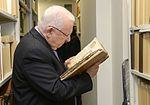 Reuven Rivlin in the Hebrew books collection in Russian State Library (3).jpg