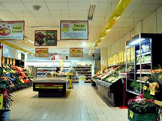 REWE - The fruit and vegetable section of REWE Eberswalde, Brandenburg
