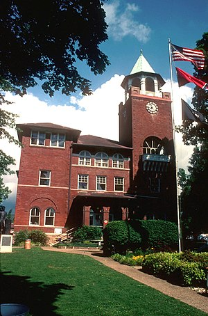 The Rhea County Courthouse, site of the Scopes Trial