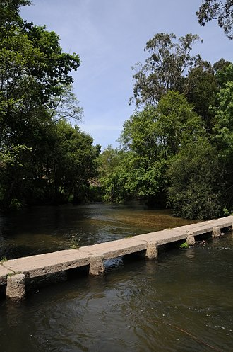 The Portuguese Way - Neiva river footbridge in Antas, Esposende.