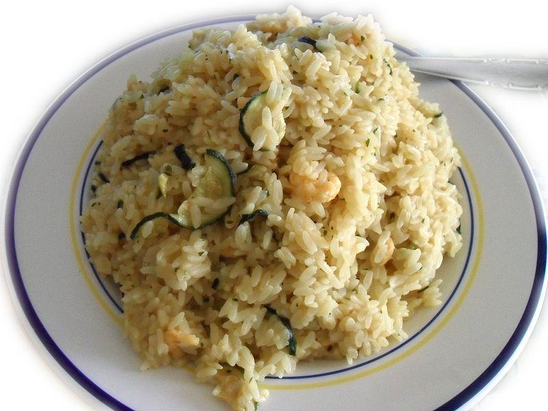 File:Risotto ai gamberetti e zucchine.jpg