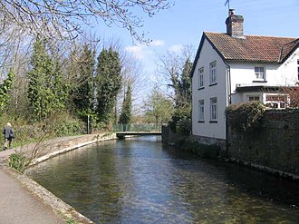 Dorchester, Dorset - The River Frome on the edge of the town