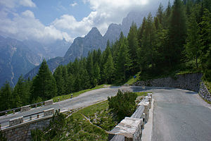 Vršič Pass - Image: Road to Vršič pass