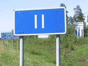 Ii, Finland - Roadsign marking the entrance to Ii