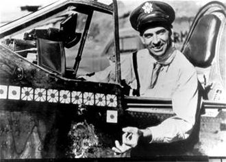 God Is My Co-Pilot (film) - Colonel Robert L. Scott Jr. in his P-40 Warhawk in 1943 (USAF photo)