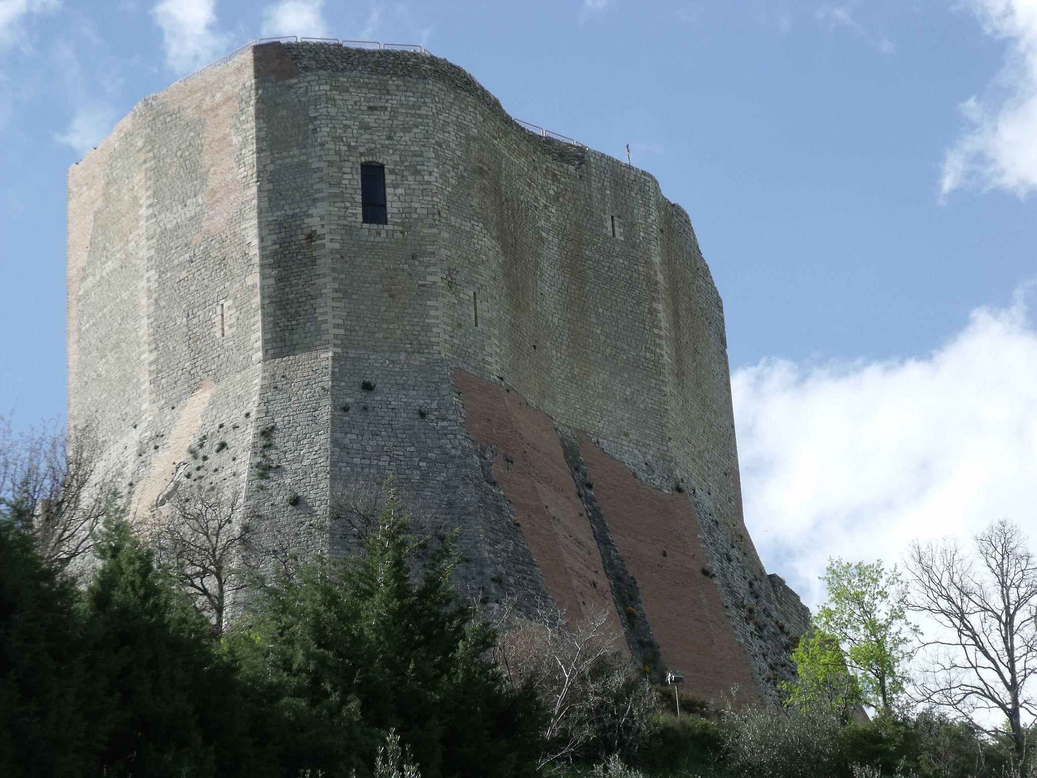 Die Burg Rocca d'Orcia, auch Rocca di Tentennano, Tintinnano oder Tintennano genannt, Castiglione d'Orcia, Val d'Orcia [1]
