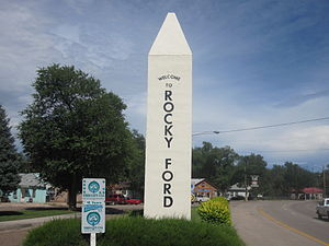 Rocky Ford, Colorado - Image: Rocky Ford, CO, welcome sign IMG 5652