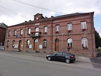 Rocquigny (Aisne) mairie.JPG