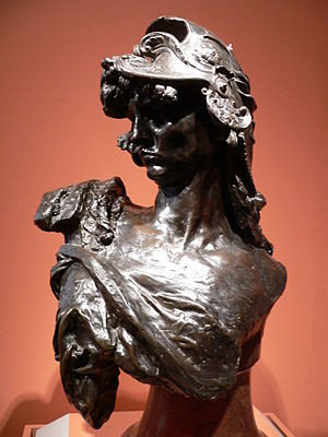 """Bellona"", by Rodin."