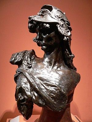 """""""Bellona"""", by Rodin."""