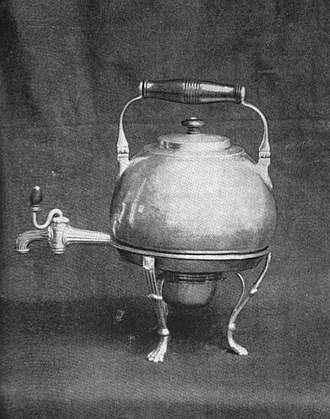 SS Savannah - The solid silver coffee urn presented by Lord Lynedoch to Moses Rogers